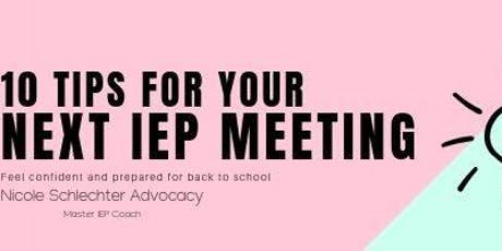 10 tips for your next IEP meeting tickets