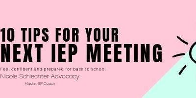 10 tips for your next IEP meeting