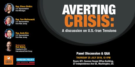 Averting Crisis: A discussion on U.S.-Iran Tensions tickets