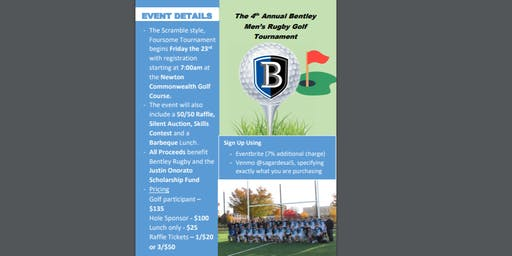Bentley Rugby: 4th Annual Golf Tournament Fundraiser