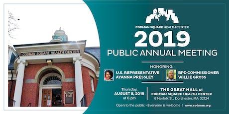 Codman Square Health Center Public Annual Meeting 2019 tickets