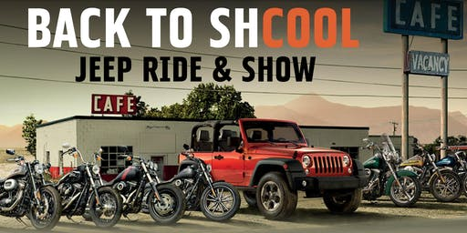 """Back to """"Shcool"""" Jeep Ride and Show"""