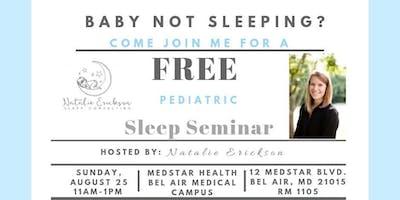 Harford Co. Free Pediatric Sleep Seminar