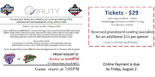 Quality Family Night @ Jimmy John's Field (8/23/19)