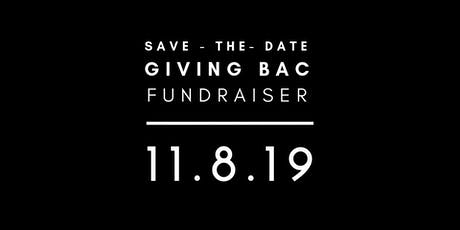 GIVING BAC: Annual Fundraiser  tickets