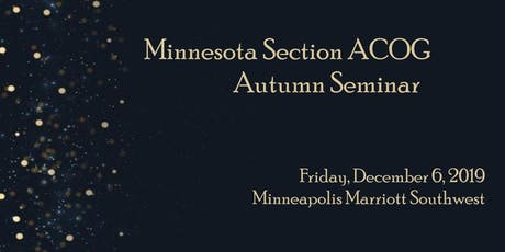 Minnesota Section ACOG Winter Meeting 2019 tickets