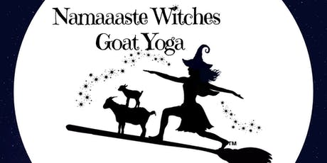 Namaaaste Witches Goat Yoga Benefit 10:30am: Namaaaste Goat Yoga tickets