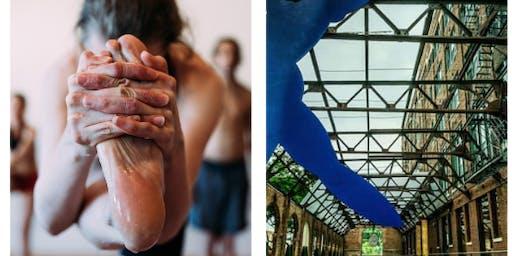 105F + 8A5E present Hot Pilates, Yoga & Brunch Series at the Bridgeport Art Center