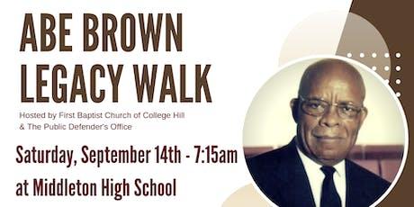 Abe Brown Legacy Walk 2019 tickets