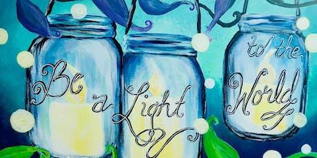 Fireflies & Mason Jars - Adult Acrylic Painting Class - Kannapolis tickets