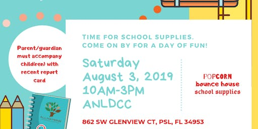 All Nations Children's Church Back to school Giveaway