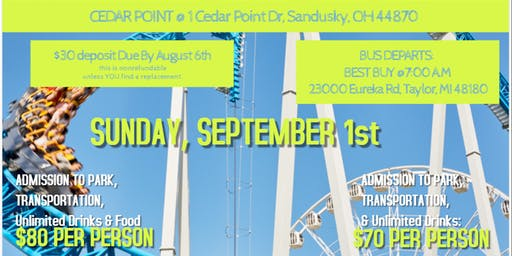 Cedar Point Trip
