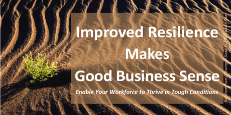 Improved Resilience Makes Good Business Sense tickets