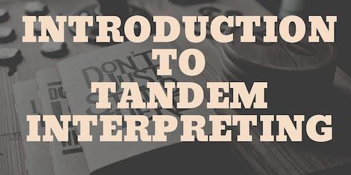 Intro to Tandem Interpreting Workshop