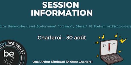 Séance Information - BeCode Charleroi billets