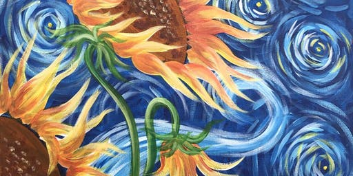 Sunflowers Brush Party - Knaphill