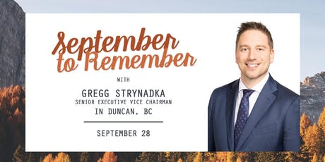 September to Remember: Super Saturday in Duncan, BC with Gregg Strynadka tickets