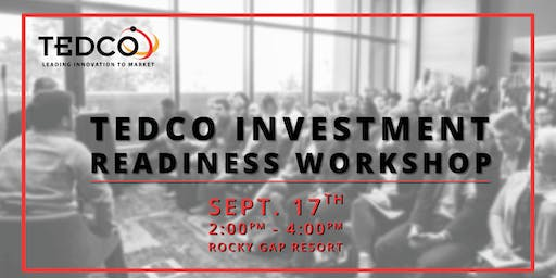 TEDCO Investment Readiness Workshop