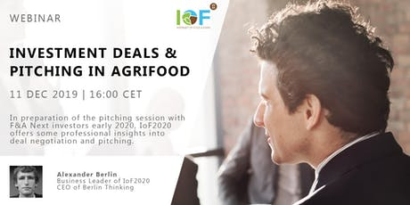 Webinar on Investment deals and pitching in agrifood tickets