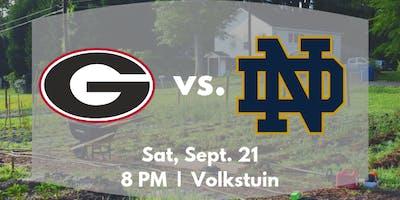 UGA vs Notre Dame Viewing at Volkstuin