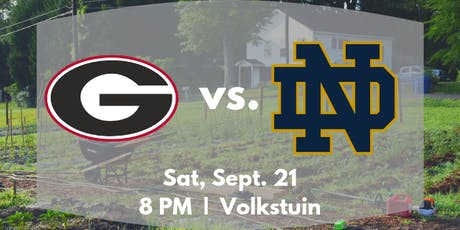 UGA vs Notre Dame Viewing at Volkstuin tickets