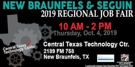 New Braunfels & Seguin October Job Fair Attendee (Pre-registration)