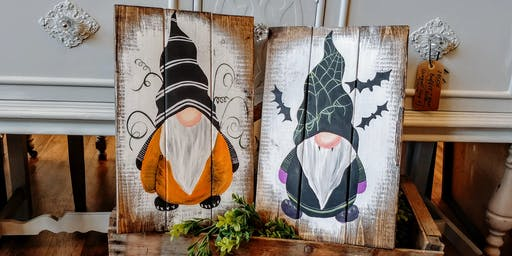 SOLD OUT - Pumpkin / Dracula Gnome Paint Night #4