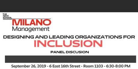 Designing and Leading Organizations for Inclusion tickets