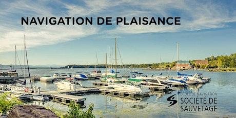 Navigation de plaisance/HC - Longueuil - 33 h (20-04) billets
