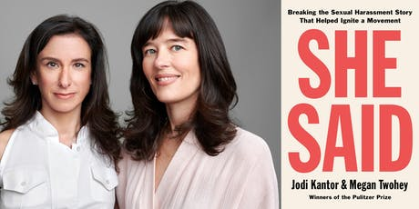 Jodi Kantor & Megan Twohey present She Said tickets