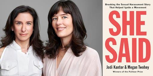 Jodi Kantor & Megan Twohey present She Said