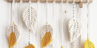 Make your own Macrame, falling leaves wall hanging