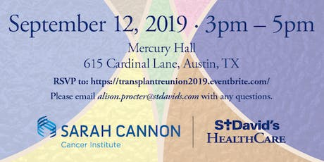 South Austin Medical Center Five Year Blood and Bone Marrow Transplant Reunion  tickets