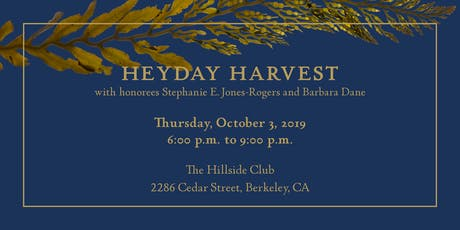 Heyday Harvest: Celebrating 45 Years of Publishing tickets