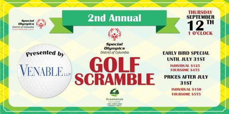 2nd Annual Special Olympics District of Columbia Golf Scramble Presented by Venable LLP tickets
