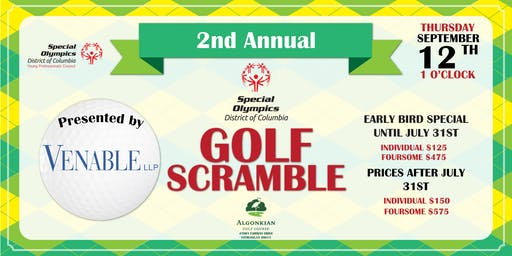2nd Annual Special Olympics District of Columbia Golf Scramble Presented by Venable LLP
