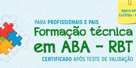 Formação Técnica em ABA - RBT ingressos