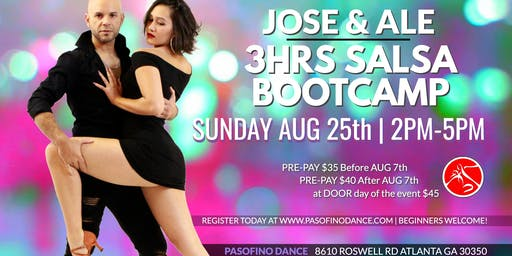 3HRS SALSA BOOTCAMP - Aug 25th, 2019