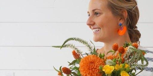 Floral Centerpiece Workshop at Wild Women Wine