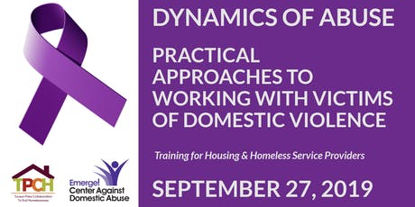 Dynamics of Abuse - Approaches to Working with Victims of Domestic Violence tickets