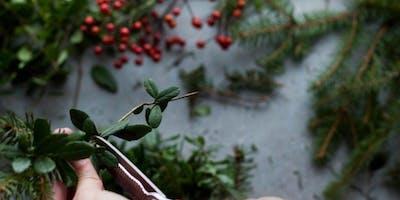 Holiday Wreath Workshop at Wild Women Wine
