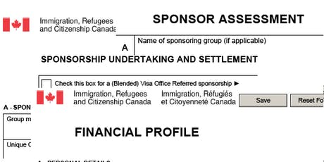 Private Sponsorship of Refugees-Groups of Five Forms tickets