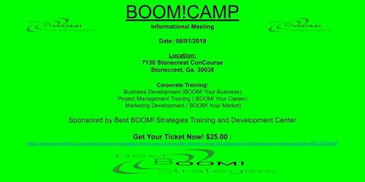 Best BOOM! Strategies (BOOM!CAMP) (Corporate Training and Development )  Informational Meeting