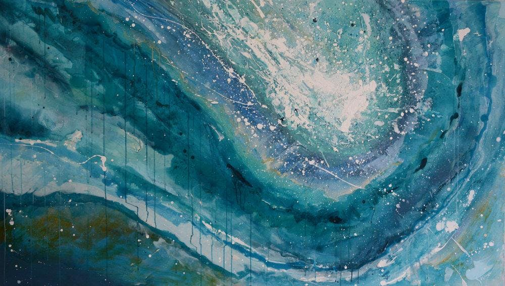 Acrylic Painting Classes: Abstract Landscape - Toronto, Danforth
