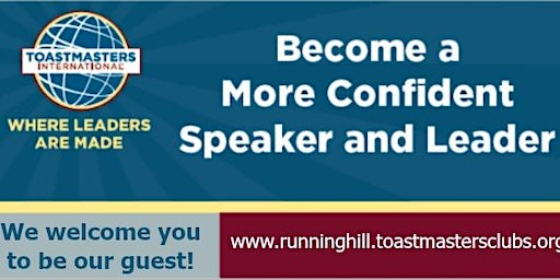Toastmasters Meeting - Running Hill Toastmasters