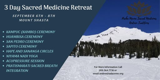 3-Day Sacred Medicine Retreat (Aya-huambisa, Bufo-Huasca, Kambo, and San Pedro)