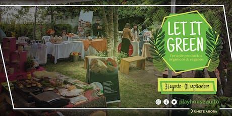 Let It Green: Feria de productos orgánicos y veganos entradas