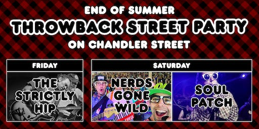 End of Summer Throwback Street Party Weekend on Chandler Street!