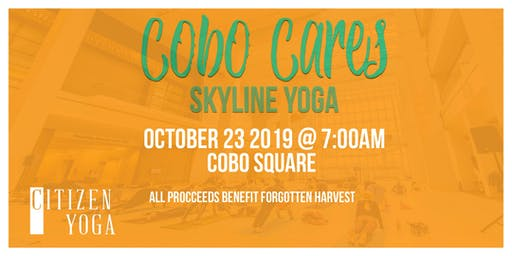 Cobo Cares - Skyline Yoga with Citizens Yoga