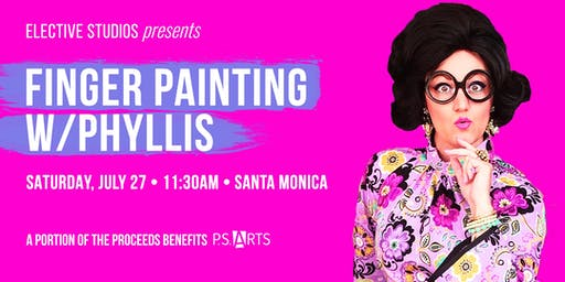 Finger Painting w/Phyllis